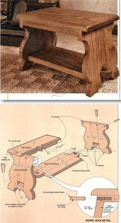 Foot Stool Plans - Furniture Plans and Projects | http://WoodArchivist.com