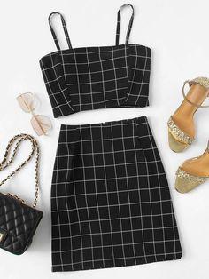 Girls Fashion Clothes, Teen Fashion Outfits, Outfits For Teens, Girl Fashion, Girl Outfits, Fashion Black, Fashion Ideas, Fashion Trends, Cute Summer Outfits