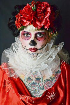 mother meurtes dia de los muertos by tokyoroseaccessories on Etsy, $15.00