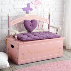 Levels of Discovery Royal Princess Toy Box Bench - Toy Storage at Hayneedle Creative Toy Storage, Diy Toy Storage, Kids Storage, Decorative Storage, Storage Ideas, Seat Storage, Royal Princess, Princess Toys, Princess Theme