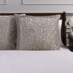 Dorma Charlbury Champagne Continental Pillowcase | Dunelm