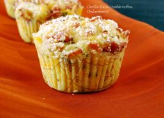Cheddar Bacon Crumble Muffins