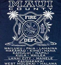 Maui Fire Department Firefighter Hawaii T-shirt XL Fire Dept, Fire Department, Maui, Hawaii Fire, Firefighting, Patches, T Shirt, Fire Fighters, Badges