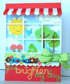 You Brighten My Day Window Card *Doodlebug* - Scrapbook.com