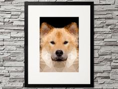 Geometric vector animal - dog, fox. stunning pet project. Geometrischer Hund (Eurasier). Get your exclusive print art for your gallery wall