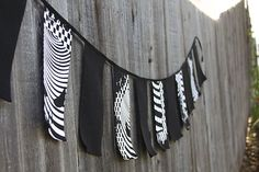 Joyaltee Pennant made from T-shirts or could use old jeans or other random clothing.