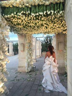 Karen Tran - Flower Designer. Dress by Antonio Riva.