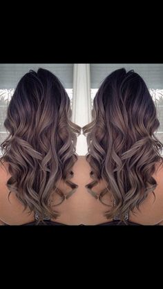 Dark roots with highlights