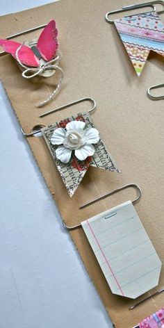 Decorative Clips! All you need are paperclips, scraps, and staples! Make your own custom embellishments!!! Find details at: blog.vintagestree...