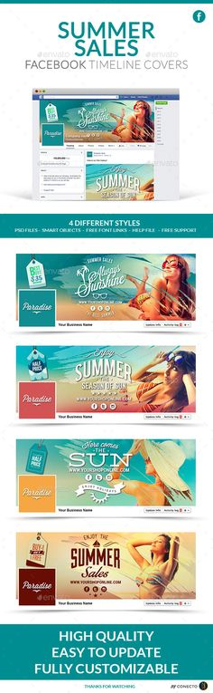 Summer Sales Facebook Timeline Cover Template PSD #design Download: http://graphicriver.net/item/facebook-timeline-cover-summer-sales/11225986?ref=ksioks