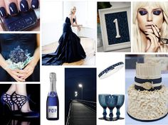 MIDNIGHT BLUE WEDDING  This week we wish to share with you our moody midnight blues. A classic shade which captivates the mind and looks crisp paired with shades of white, black, greens, reds, purples, golds – it goes on and on! A classic colour which evokes a sense of tradition and heritage. These blues will leave you feeling anything but. www.katherinecourtney.com