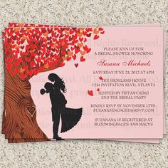 Fall in Love Bridal Shower or Couple's Shower Printable Invitation by InvitationBlvd, $10.99