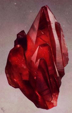 Crystal Study 2 Day #51 by AngelGanev ruby fire heat red gem gemstone equipment gear magic item | Create your own roleplaying game material w/ RPG Bard: www.rpgbard.com | Writing inspiration for Dungeons and Dragons DND D&D Pathfinder PFRPG Warhammer 40k Star Wars Shadowrun Call of Cthulhu Lord of the Rings LoTR + d20 fantasy science fiction scifi horror design | Not Trusty Sword art: click artwork for source