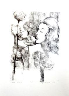 Fantazja, Martyna Bocheńska, sucha igła, 42 x 31 cm