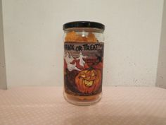 TRICK or TREAT Recycled Jar Holder by KreationsGalore on Etsy
