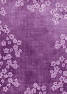 Purple Mini Floral Border A4 Backing Paper on Craftsuprint designed by Ann-marie Vaux