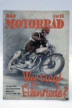 Zeitschrift ¨DAS MOTORRAD¨ Jahrgang 1934 / 17x / Oldtimer / Motorcycle / D in…