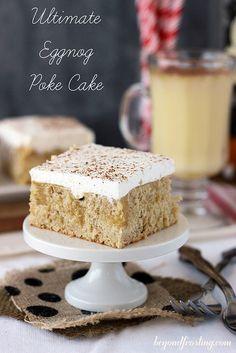 Ultimate Eggnog Poke Cake