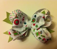 Mickey And Minnie Mouse Christmas Bow by PerfectLittlePeople, $6.00