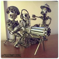 """"""" ... stuff that highly creative people made from their old car parts ... """""""