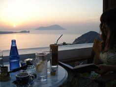last sunset in Milos at the amazing Utopia Cafe