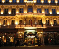 Sacher Hotel, Vienna, Austria. My Baking dream is to eat THE sacher torte!