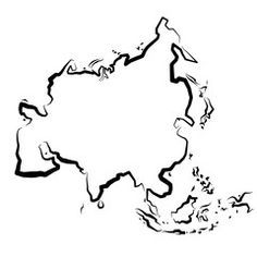 Znalezione obrazy dla zapytania kontur azji
