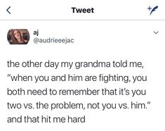 This is good relationship advice. Every couple is bound to have fights and disagreements but if more couples kept this in mind, I think they'd be less of a divorce rate 😂 Favorite Quotes, Best Quotes, Love Quotes, Inspirational Quotes, The Words, Relationship Advice, Relationships, Marriage Advice, Relationship Building