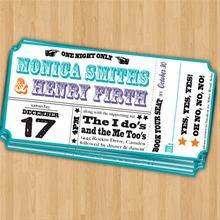 Concert lover themed invite or save the date.