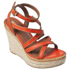 Target orange and tan wedges 5.5 Bright orange wedges in wonderful condition from target size 5.5 Target Shoes Wedges