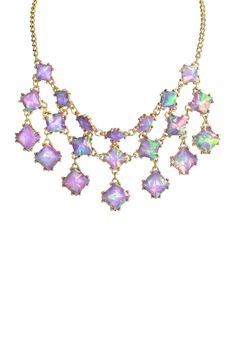 Triple Row Square Necklace