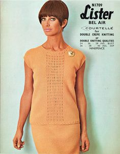 Items similar to PDF Vintage Womens Ladies Dress Suit Crochet Pattern Groovy Summer Beatnick Mod Disco Medieval Lister 'Tropical Orange' on Etsy Crotchet Patterns, Knitting Patterns Free, Easy Knitting, Double Knitting, Womens Dress Suits, Modern Crochet, Two Piece Dress, Knit Fashion, Vintage Knitting