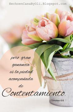 1 Timoteo 6:6 - 8 Pero gran ganancia es la piedad acompañada de contentamiento…