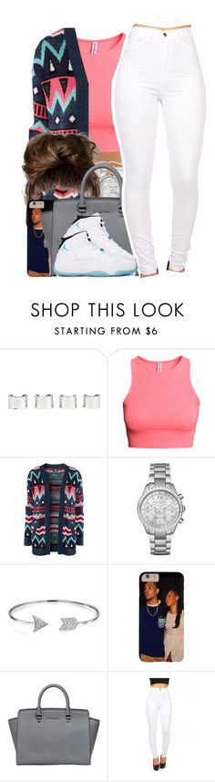 """Chris Brown / Body On Mine"" by nasiaamiraaa ❤ liked on Polyvore featuring Maison Margiela, H&M, Michael Kors, Bling Jewelry, MICHAEL Michael Kors, Retrò, women's clothing, women, female and woman"