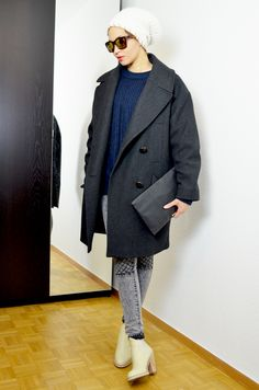 #mercredie #blog #fashion #Blogger #fashionblogger #mode #geneve #geneva #switzerland #suisse #biker #jeans #grey #jennyfer #acne #vanilla #boots #star #pull #on #boots #bottines #cream #crème #oversized #boyfriend #navy #Jumper #sweater #pull #zara #2013 #bonnet #isabelmarant #isabel #marant #coat #manteau #h&m #zara #lunettes #shades #sunglasses #bcbg #maxazria #bcbgmaxazria #bag #pochette #clutch