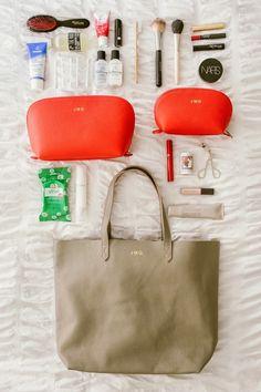 Organising an overnight bag - toiletries and makeup