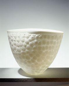 Bone China Bowls by Sasha Wardell -Veil, errosion technique