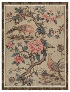 Pink Birds in Gold Frame - Soicher Marin - Brands | One Kings Lane