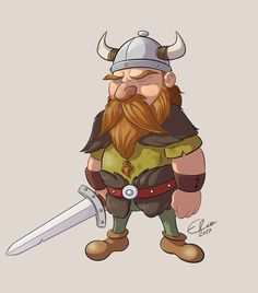 Viking Male Warrior 2 by ElioFinocchiaro.deviantart.com on @DeviantArt