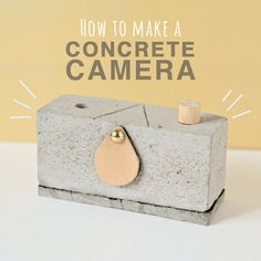 User amuu of popular website, Instructables, has recently published a tutorial on how to make your own concrete pinhole camera. Diy Pinhole Camera, Toy Camera, Paper Camera, Photo Projects, Diy Craft Projects, Crafts, Project Ideas, Polaroid, Manualidades