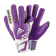 white and purple soccer goalkeeper jerseys Goalie Gear, Goalie Gloves, Keeper Gloves, Soccer Kits, Soccer Quotes, Adidas Predator, Goalkeeper, Purple, Pitch