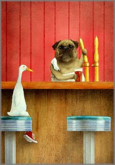 Brew Pug by Will Bullas