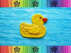 Ravelry: Duck Applique pattern by Patricia Eggen.