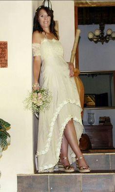 Country style bohemian wedding dress