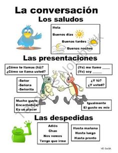 Beginning Spanish Conversation PICTURE Notes product from Spanish the easy way! Spanish Grammar, Spanish Vocabulary, Spanish Language Learning, Spanish Teacher, Foreign Language, Spanish Idioms, Spanish Classroom Activities, Spanish Teaching Resources, Middle School Spanish
