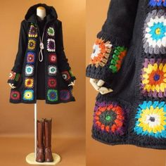 Crochet Shorts Pattern, Crochet Cardigan, Knit Crochet, Crochet Patterns, Handgestrickte Pullover, Bead Sewing, Hand Knitted Sweaters, Crochet Fashion, Refashion