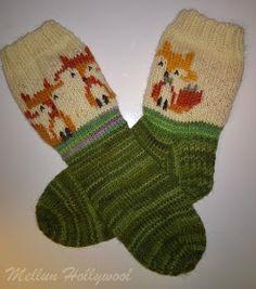 Mellun Hollywool: Kettusukat pikkutytölle Hand Knitting, Knit Crochet, Wool, Ketut, Crocheting, Diy, Fashion, Slipper, Knitting And Crocheting