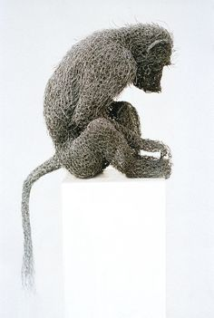 Young Baboon (2001) - Kendra Haste (painted galvanised wire)