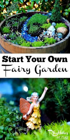 Learn how to start your own fairy garden using these easy tips and tricks! Miniature gardens like this fairy garden are a lovely addition to any porch, deck, backyard, or garden. They also make magical small worlds for kids that are perfect for pretend play. How to Start a Fairy Garden | How to Make a Fairy Garden | How to create a fairy garden | DIY Fairy Garden | Small World | Imaginative Play | Gardening with Kids #fairygardening