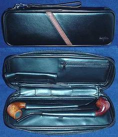 Churchwarden Pipe Case    Holds 2 churchwarden pipes, tamper, pipe cleaners, lighter and more. Also features a removable lined tobacco pouch.